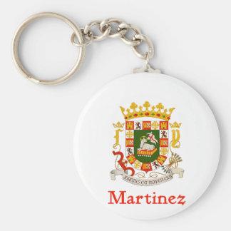 Martinez Shield of Puerto Rico Keychain