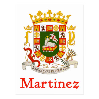 Martinez Shield of Puerto Rico Postcard