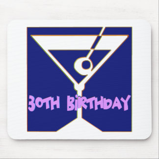 Martini 30th Birthday Gifts Mousepads