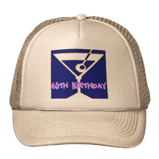 Martini 65th Birthday Gifts Hats
