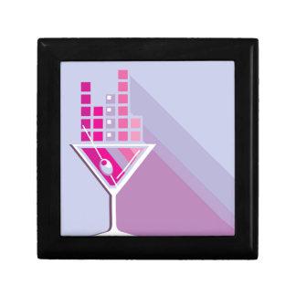 Martini Abstract Keepsake Box