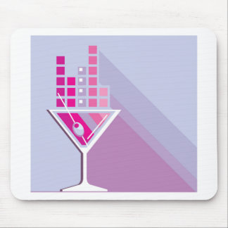 Martini Abstract Mouse Pad