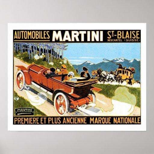 Martini Automobile Vintage Ad Art Posters