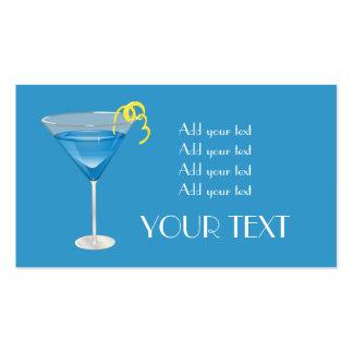 Martini azul tarjetas personales