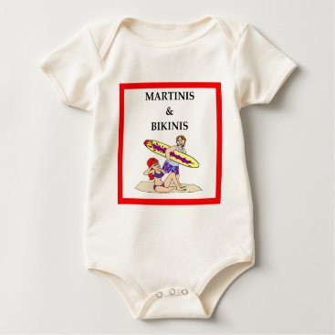 Beach Themed MARTINI BABY BODYSUIT