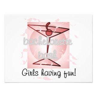 Martini Bachelorette Bash Tshirts and Gifts Personalized Invitation