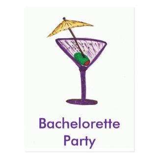 Martini Bachelorette Party Postcard
