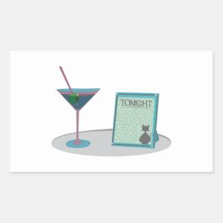 Martini Base Rectangular Stickers
