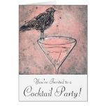 Martini Bird Bath Cocktail Party Invite Card