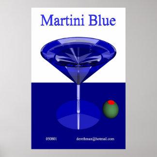 Martini Blue (print) Poster