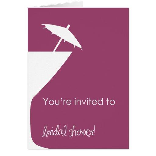Martini Bridal Shower Invitation Stationery Note Card