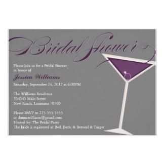 Martini Bridal Shower | Purple Invitation