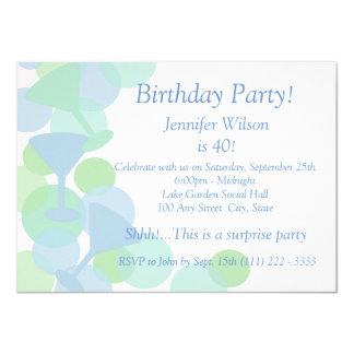 Martini Bubbles Birthday Card
