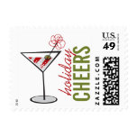 Martini Cheers Cocktail Party Fun Holiday Stamps