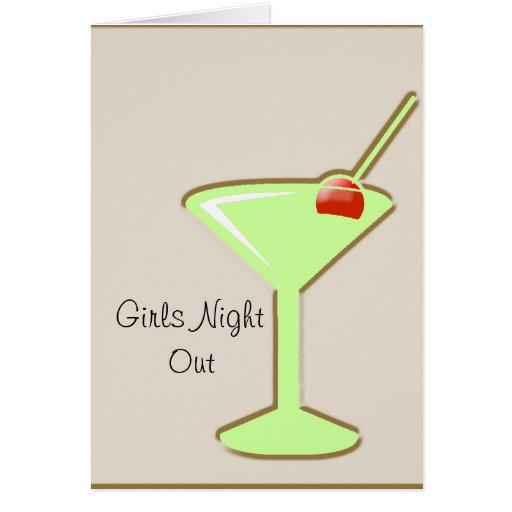 martini, chicas NightOut Tarjetas