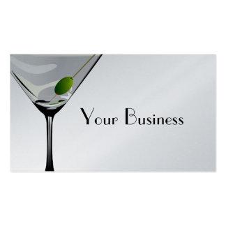 Martini Cocktail Business Card Platinum