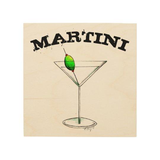 Martini Tail Gl Bar Kitchen Mixed Drink Wood Wall Decor
