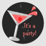 Martini Cocktail Party Sticker