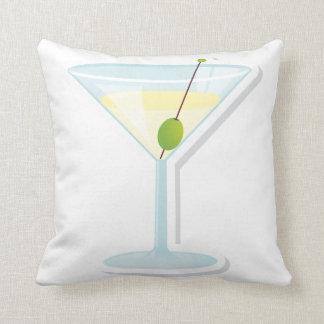 Martini Cocktail Throw Pillows