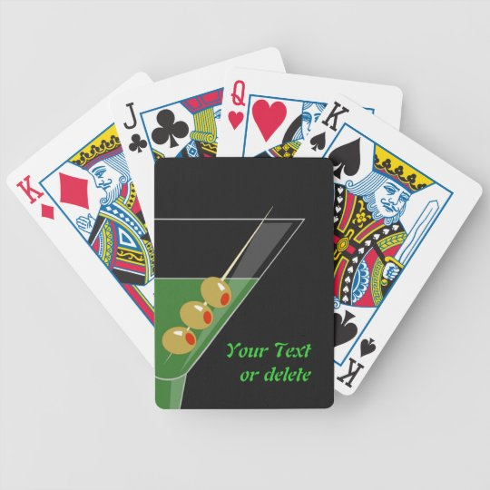 Martini Cocktail Playing Cards