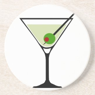Martini Cocktail Sandstone Coaster coaster