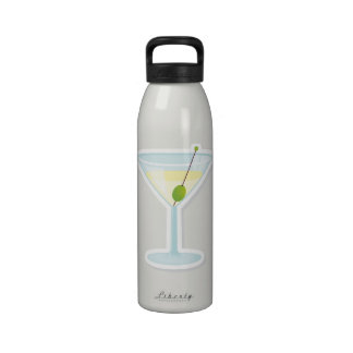 Martini Cocktail Water Bottle