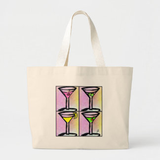 MARTINI COLLAGE POSTER ART PRINT by Jill Large Tote Bag
