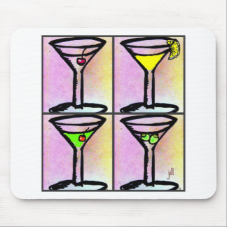 MARTINI COLLAGE print by jill Mouse Pad