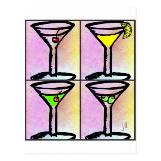 MARTINI COLLAGE print by jill Postcard
