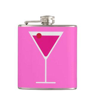 Martini cosmopolita rosado a ir bebida de la hora  petaca