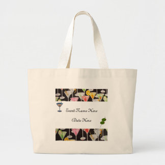 Martini Custom Party Favors Canvas Bags