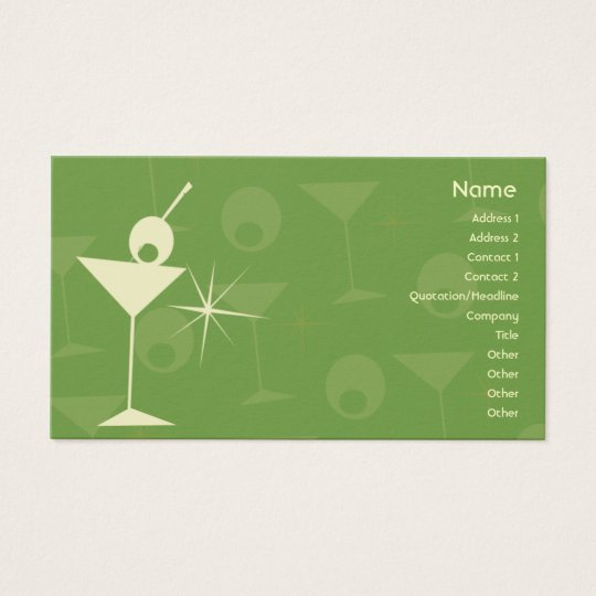 Martini Dazzle - Business Business Card