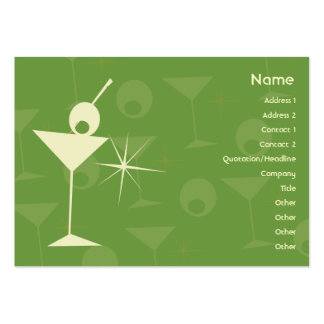 Martini Dazzle - Chubby Business Card Templates