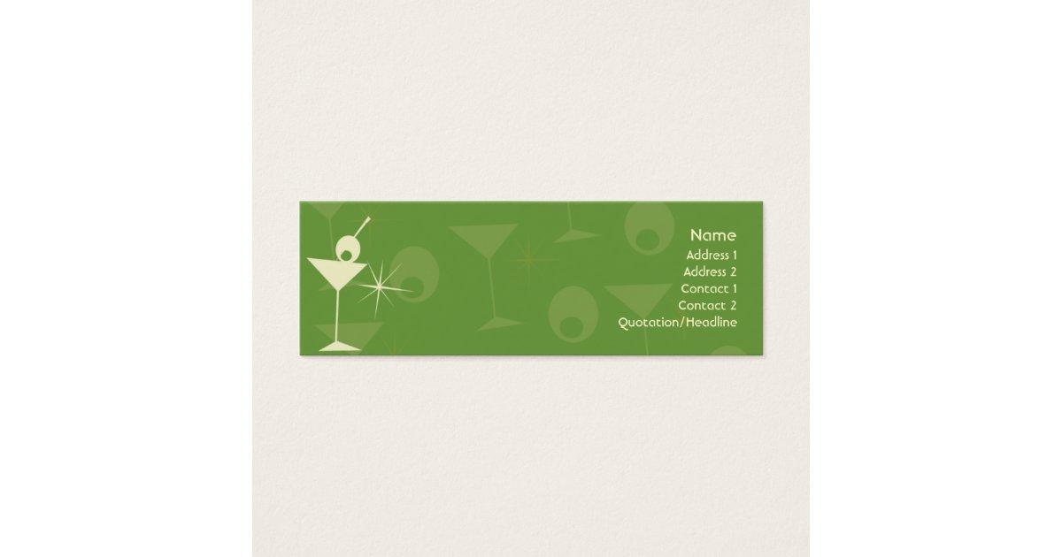 Martini Dazzle - Skinny Mini Business Card | Zazzle.com