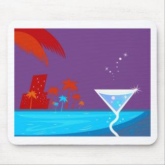 Martini design mouse pad