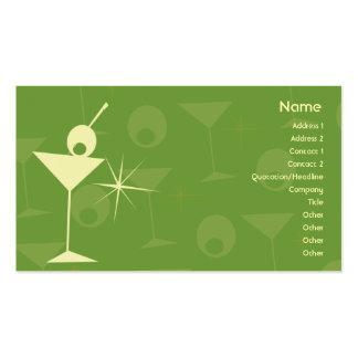 Martini deslumbra - negocio tarjetas de visita