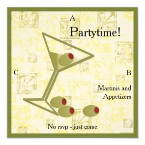 Martini Divorce Party Invitation