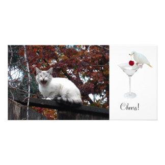 Martini Dove Photo Card