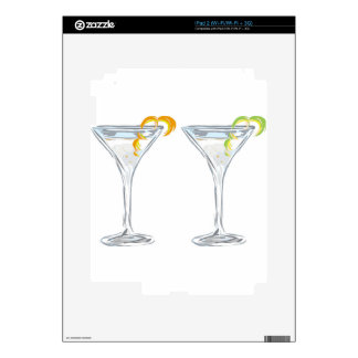 Martini Drink Sketch Decal For iPad 2