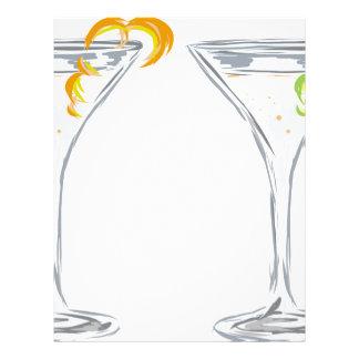 Martini Drink Sketch Letterhead