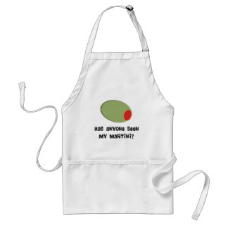 Martini Drinkers T-Shirts and Gifts Olive Design Adult Apron