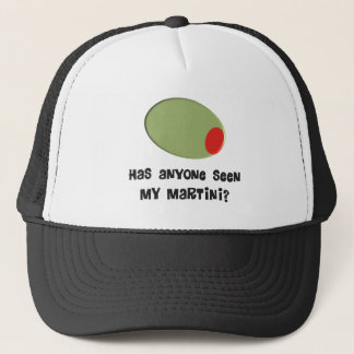 Martini Drinkers T-Shirts and Gifts Olive Design Trucker Hat