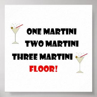 MARTINI DRINKING HUMOR POSTER