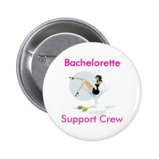 martini_girl, Bachelorette, equipo de la ayuda Pin Redondo De 2 Pulgadas