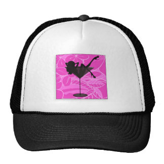 martini girl line trucker hat
