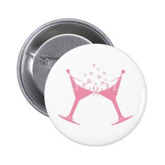 Martini Glass Pinback Buttons