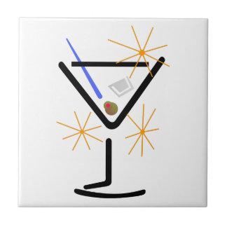 Martini Glass Ceramic Tile