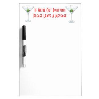 Martini Glass Cocktail Dorm Room Door Memo Dry Erase Board