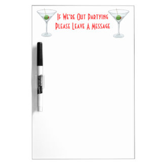 Martini Glass Cocktail Dorm Room Door Memo Dry-Erase Whiteboards