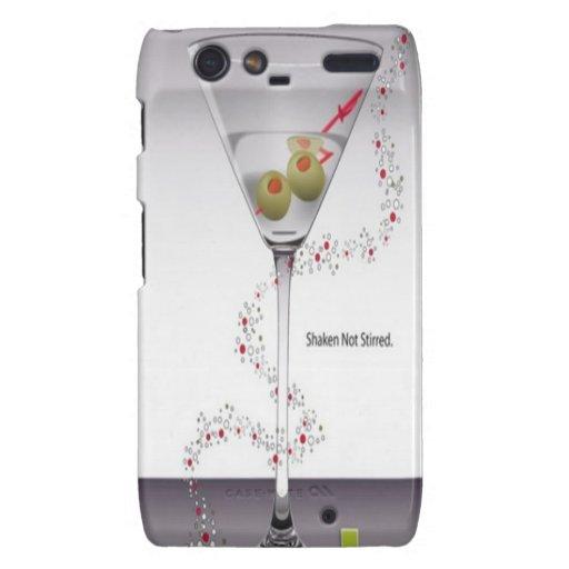 Martini glass design droid RAZR cover